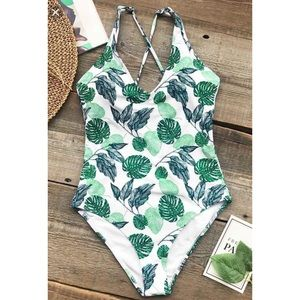 Cupshe Palm One Piece Swimsuit